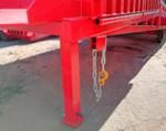 2) lanțul conectă fiabil rampa la toate tipurile de camioane;