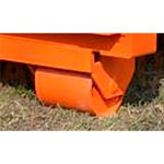 6. O pereche de roți pentru deplasarea locală (OPT-WL). Permite deplasarea rampei de la o poartă la alta, cu ajutorul unui încărcător.